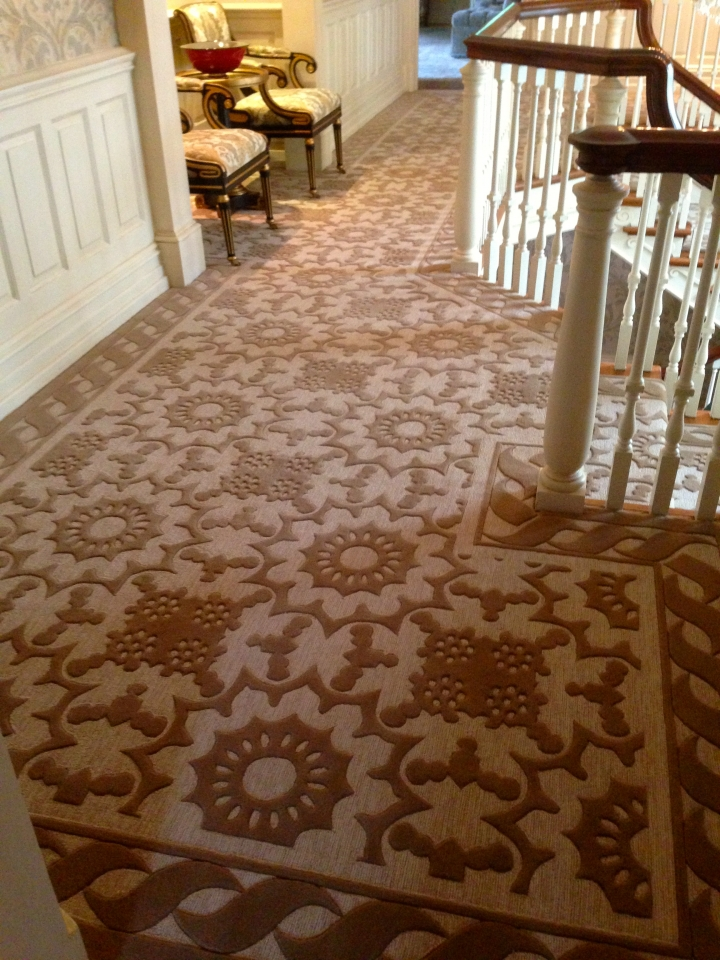 Art Deco Custom Hallway by Silk Road Carpet and Rugs