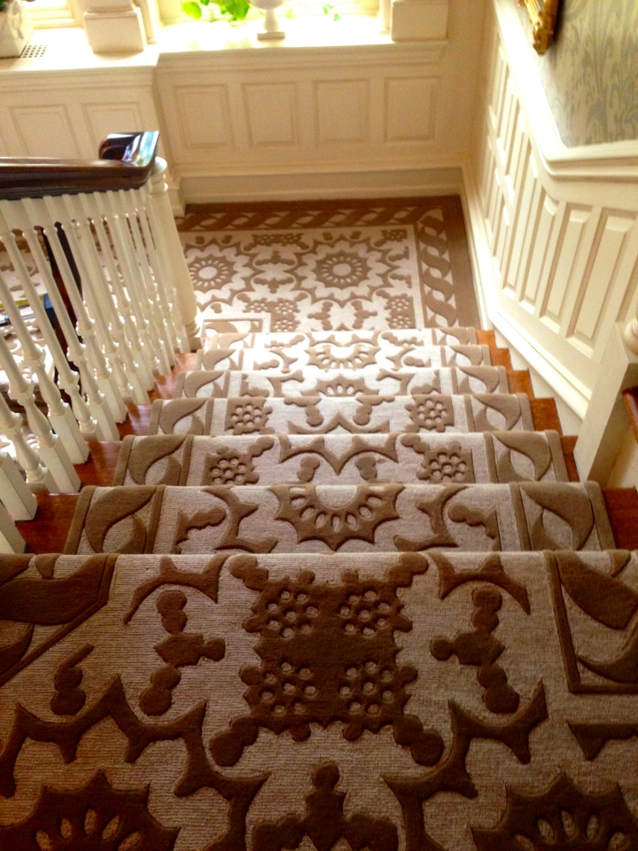 Custom Multilevel Hand Tufted by Silk Road Carpet and Rugs